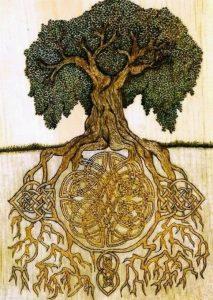 Árbol con nudos celtas